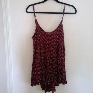 Brandy Melville Jada maroon/ polka dot dress